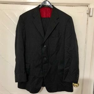 Tommy Hilfiger Pin Striped 3 Button Suit